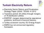turkish electricity reform