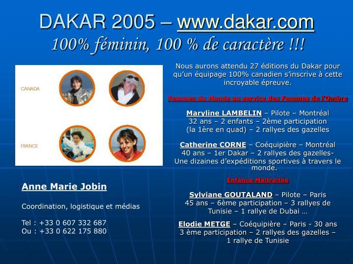 DAKAR 2005 –