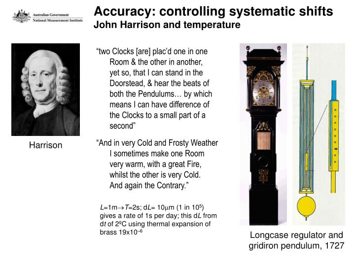 Accuracy: controlling systematic shifts