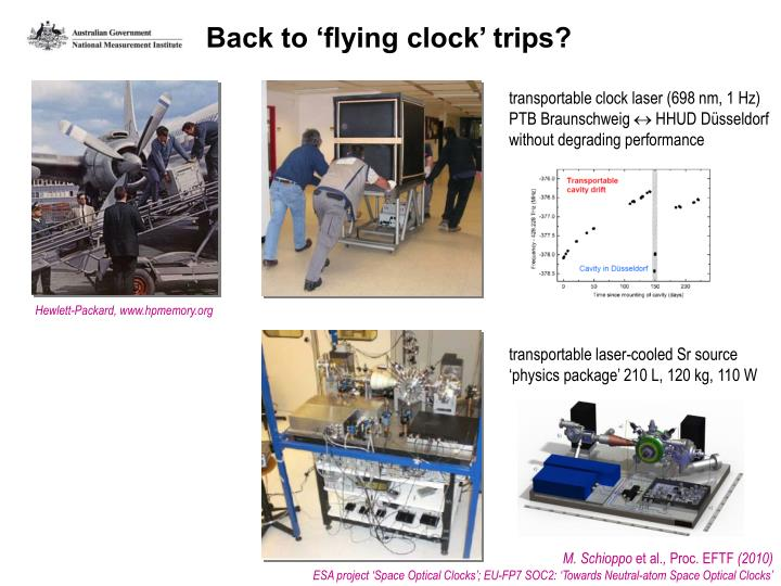 Back to 'flying clock' trips?