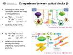 comparisons between optical clocks i