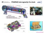 pharao microgravity cs clock