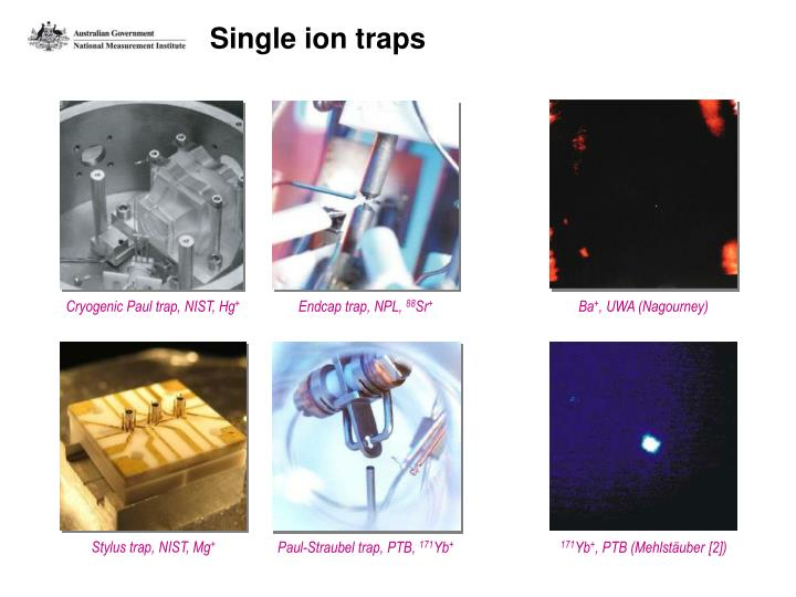 Single ion traps