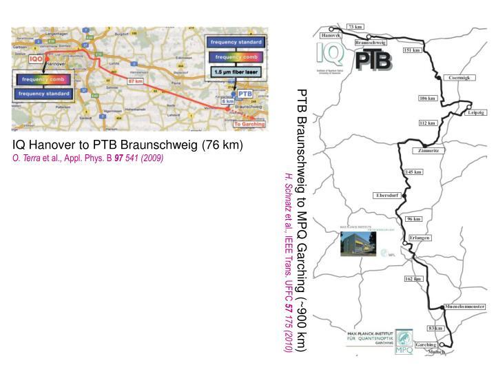 IQ Hanover to PTB Braunschweig (76 km)