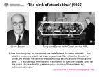 the birth of atomic time 1955