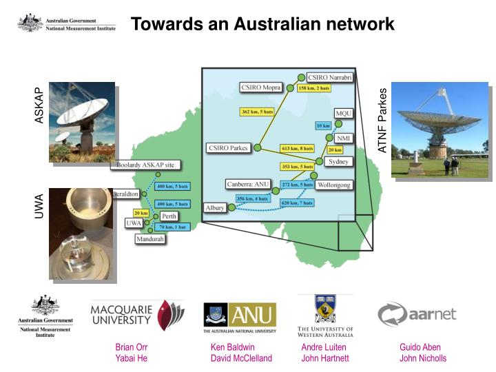 Towards an Australian network