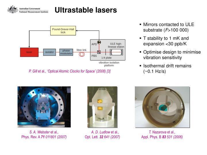 Ultrastable lasers