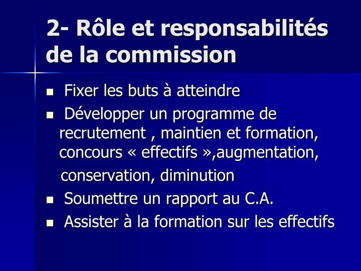 2- Rôle et responsabilités                de la commission