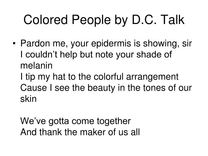 Colored People by D.C. Talk