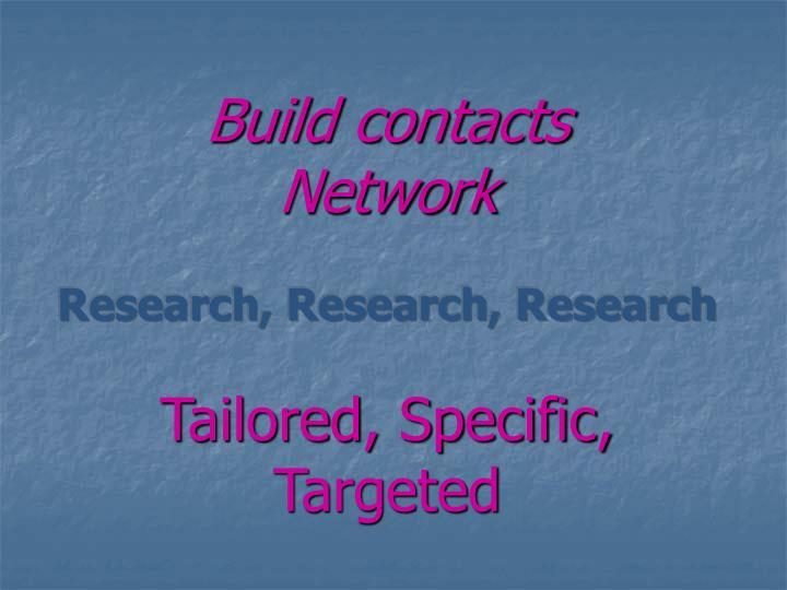 Build contacts