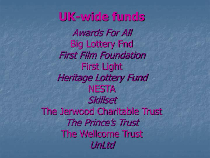 UK-wide funds
