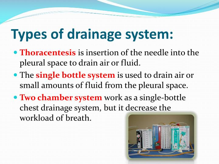 Types of drainage system: