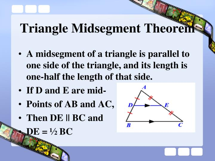 Triangle Midsegment Theorem
