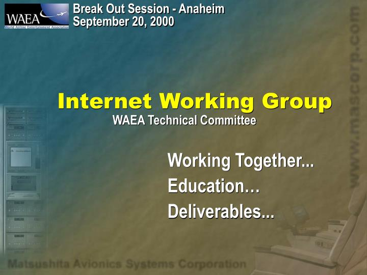 Internet working group