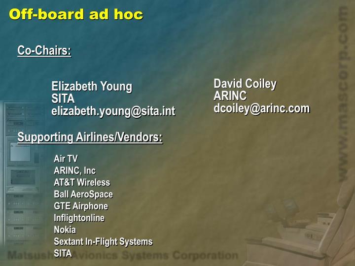 Off-board ad hoc