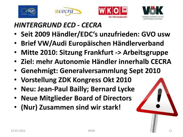HINTERGRUND ECD - CECRA