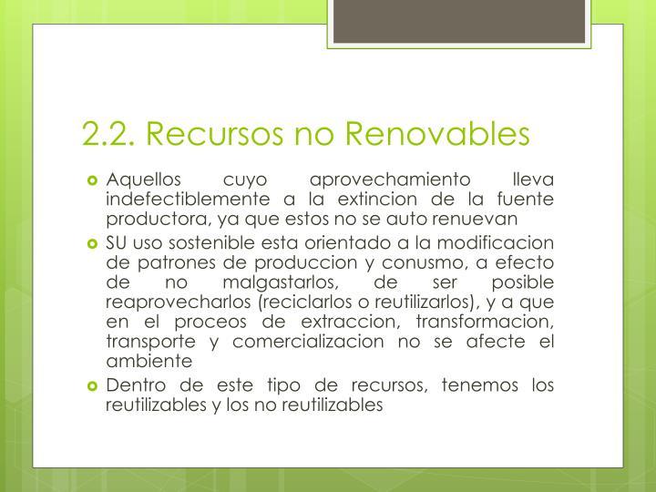 2.2. Recursos no Renovables