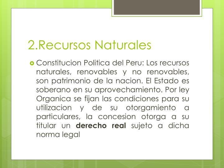 2.Recursos Naturales