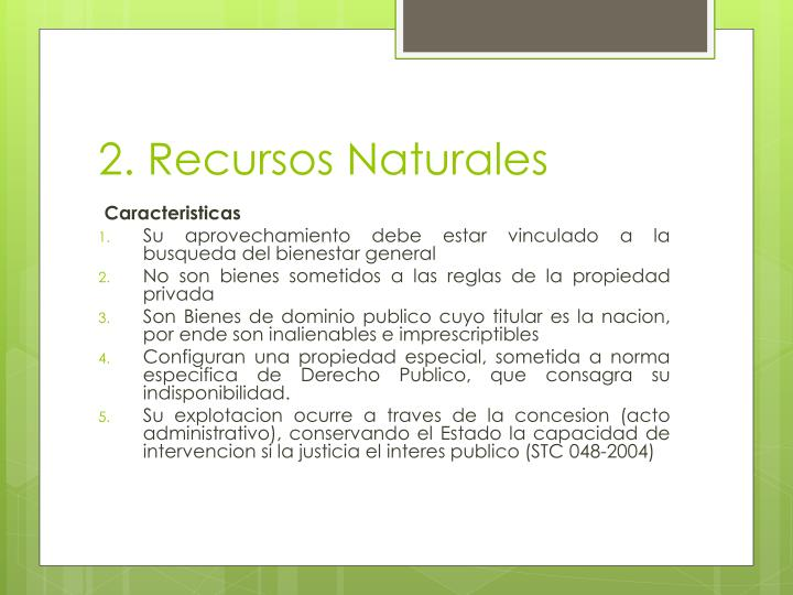 2. Recursos Naturales
