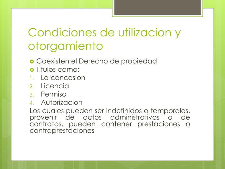 Condiciones