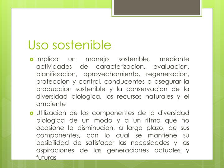 Uso sostenible