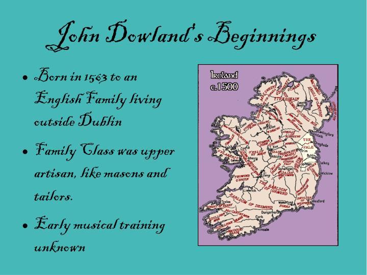 John Dowland's Beginnings