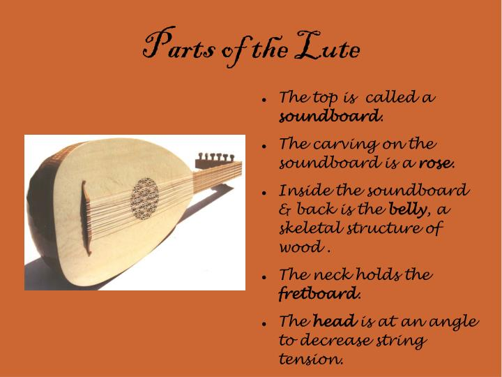 Parts of the lute