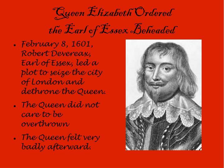 Queen Elizabeth Ordered