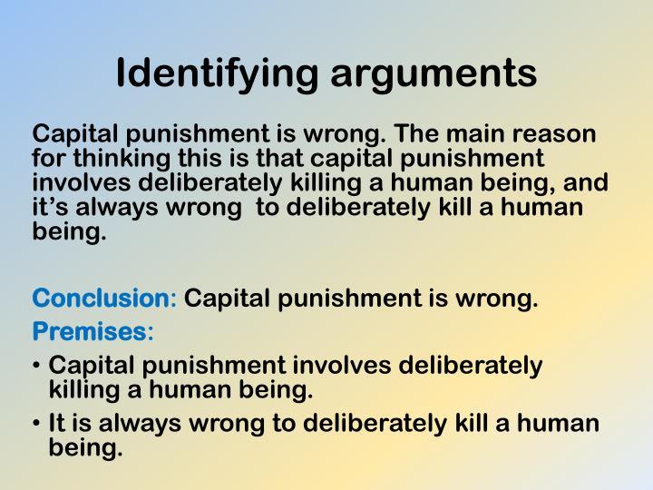 Identifying arguments