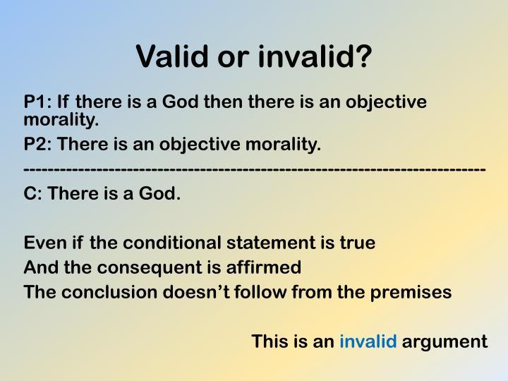 Valid or invalid?