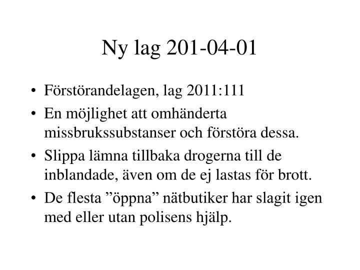 Ny lag 201-04-01