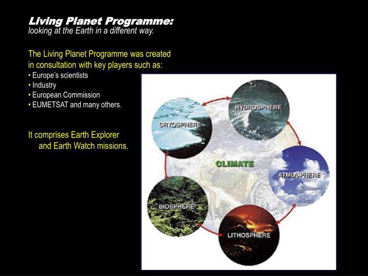 Living Planet Programme: