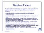 death of patient1