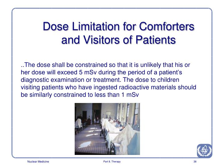 Dose Limitation for Comforters and Visitors of Patients