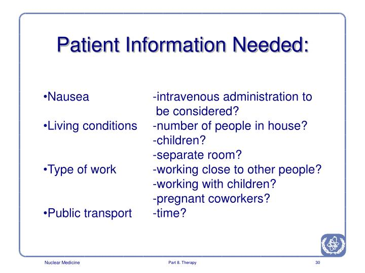 Patient Information Needed:
