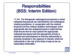 responsibilities bss interim edition