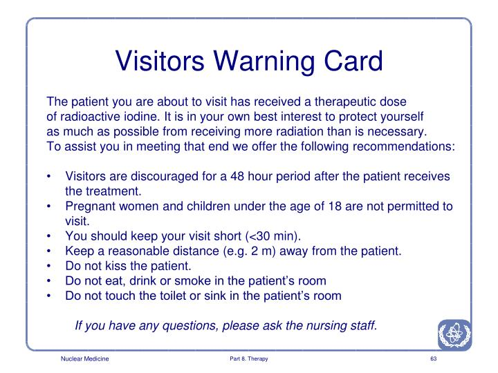 Visitors Warning Card