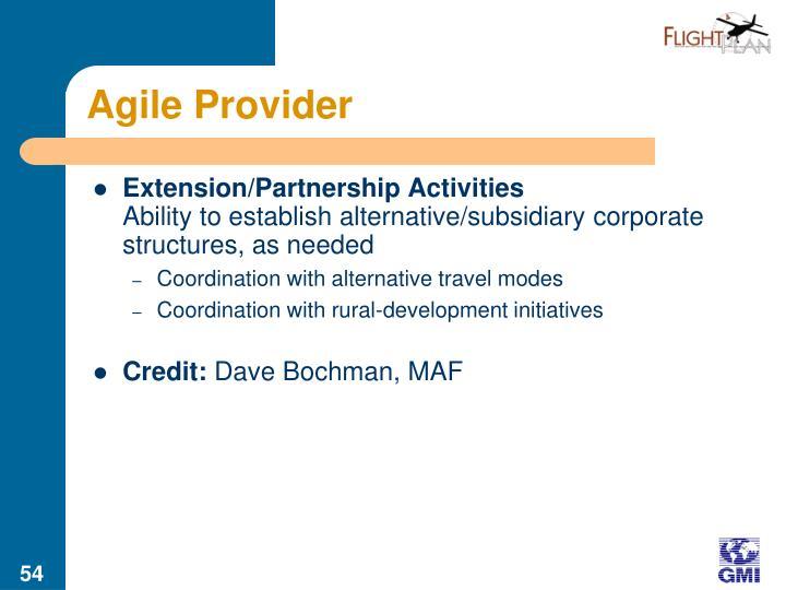 Agile Provider