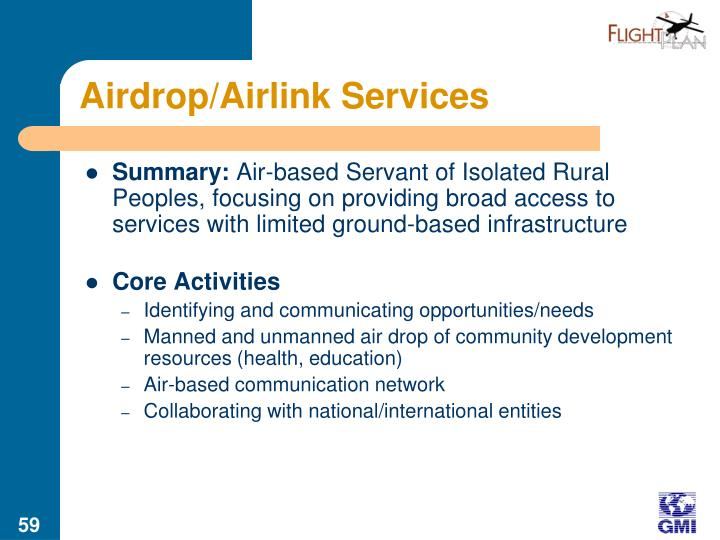 Airdrop/Airlink Services