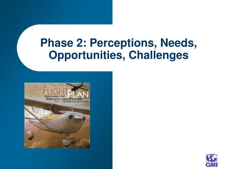 Phase 2: Perceptions, Needs, Opportunities, Challenges