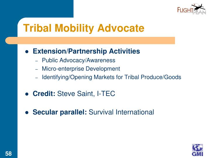 Tribal Mobility Advocate