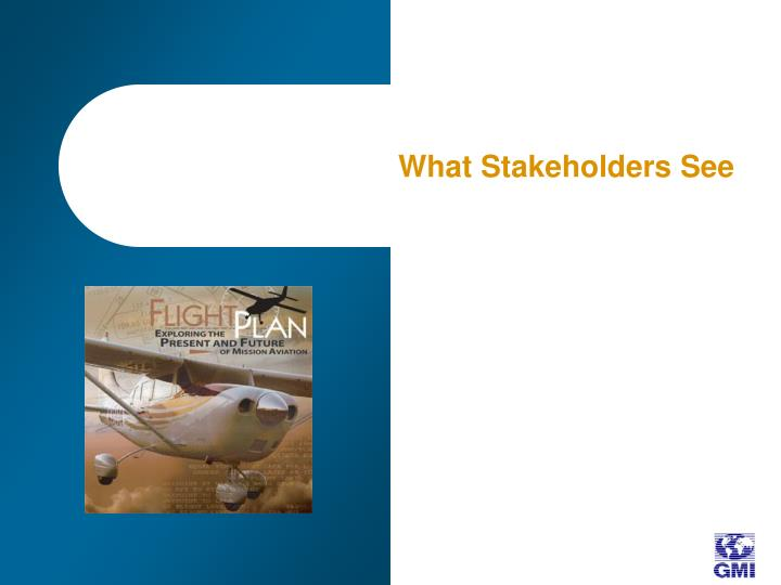 What Stakeholders See