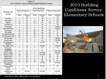 2010 building conditions survey elementary schools