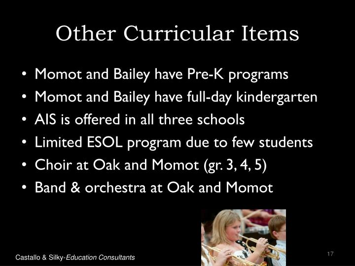 Other Curricular Items