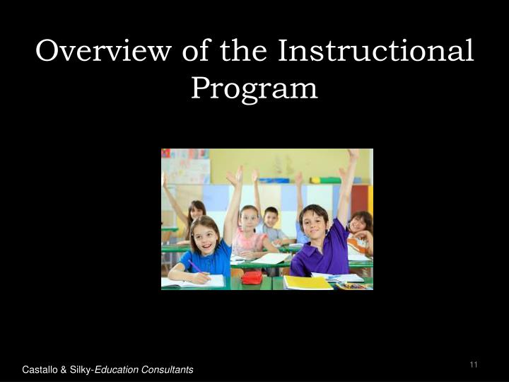 Overview of the Instructional Program