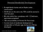 potential residential development