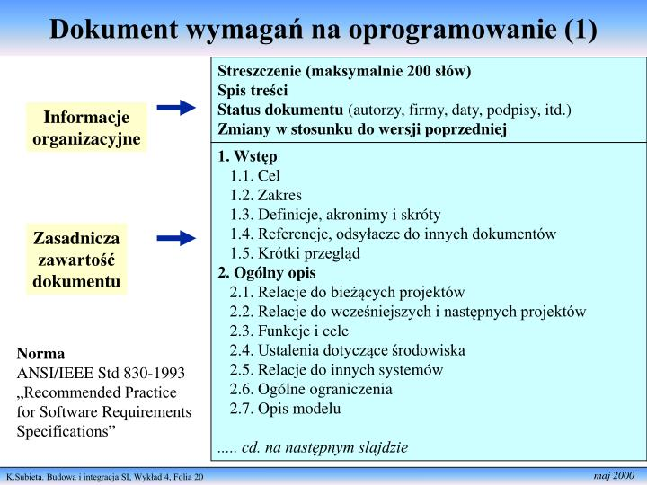 Dokument wymagań na oprogramowanie (1)