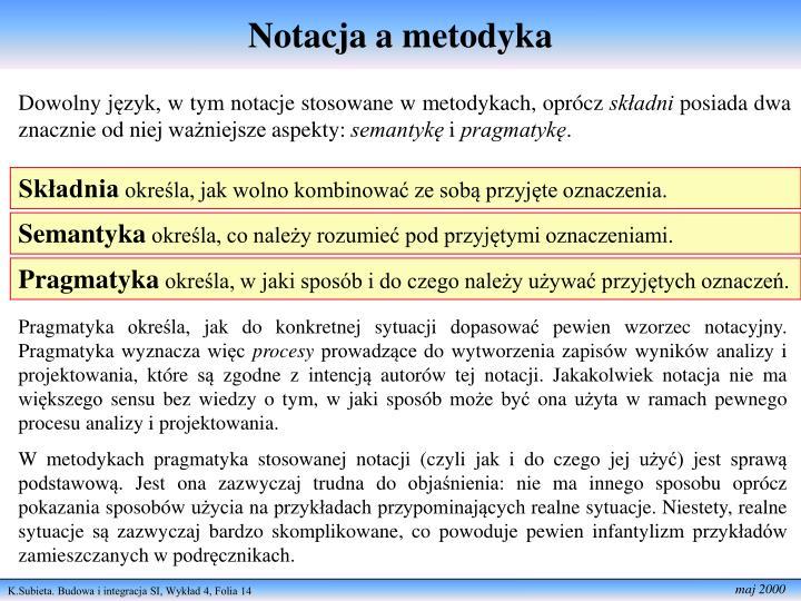 Notacja a metodyka