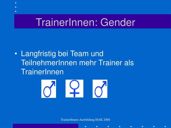 TrainerInnen: Gender