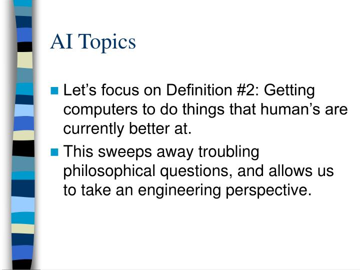 AI Topics